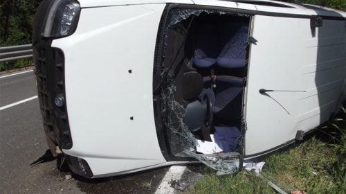Furgone Ribaltato, Incidente Porto Recanati